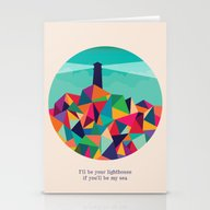 I'll Be Your Lighthouse … Stationery Cards