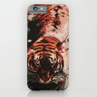 iPhone & iPod Case featuring Tiger in the Water Painting by Brianms18