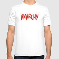 ANARCHY Mens Fitted Tee SMALL White