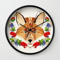 spring fox  Wall Clock