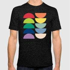 Abstract Flower Palettes Mens Fitted Tee Tri-Black SMALL