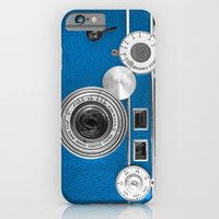 Dazzel blue Retro camera iPhone 6 Slim Case