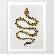 Art Print featuring Olive Serpent by Cat Coquillette