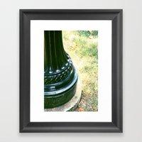 Swirling Lamp Post Framed Art Print