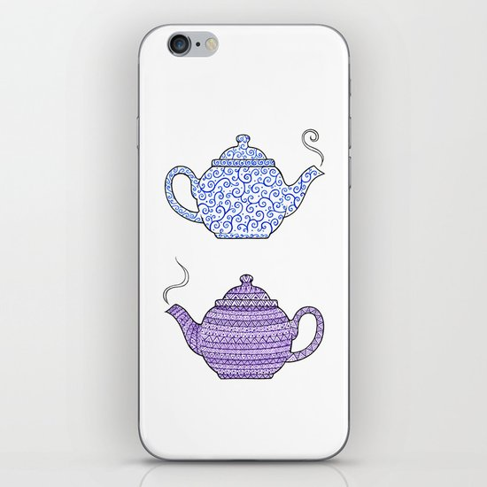 Patterned Teapots iPhone & iPod Skin