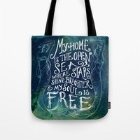 My Home Is The Open Sea Tote Bag