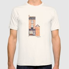 The Cats of York by Charlotte Vallance Mens Fitted Tee Natural SMALL
