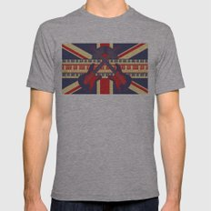British Rock Mens Fitted Tee Athletic Grey SMALL