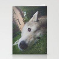 Husky 1 Stationery Cards