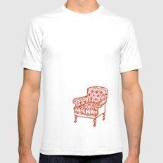 Red Chair Mens Fitted Tee White SMALL