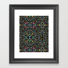 Retro Confetti Framed Art Print