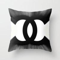 B&W Fashion C Throw Pillow