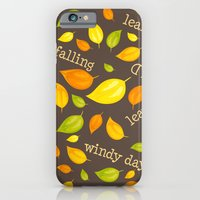 iPhone & iPod Case featuring Fall Leaves Pattern by diane555
