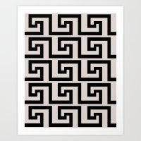 Greek Key Art Print