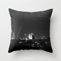 City Lightning Throw Pillow