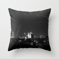 City Lightning Throw Pillow
