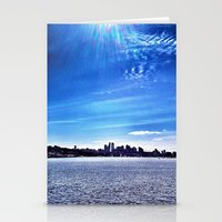Seattle Lake Landscape Stationery Cards