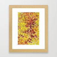 Autumn Abstract Framed Art Print
