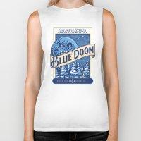 Blue Doom Biker Tank