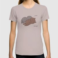 Snuggle? Womens Fitted Tee Cinder SMALL