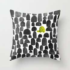 Turtle in Stone Garden Throw Pillow
