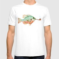 River Sunfish with a Pipe Mens Fitted Tee White SMALL