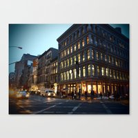 Broadway and Broome Canvas Print