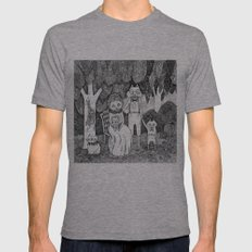 Fox Family Mens Fitted Tee Athletic Grey SMALL
