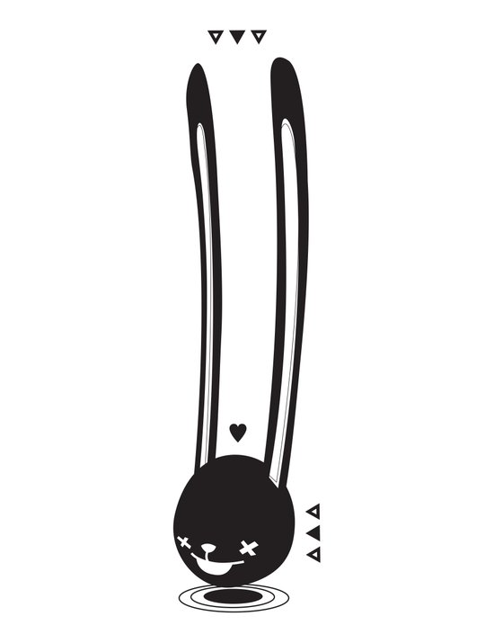 I CAN HEAR YOU ! - LONG EAR BUNNY  Art Print