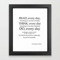 read every day  Framed Art Print