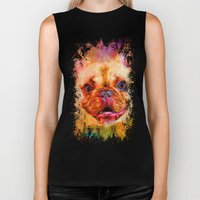 Jazzy French Bulldog Colorful Dog Art by Jai Johnson Biker Tank
