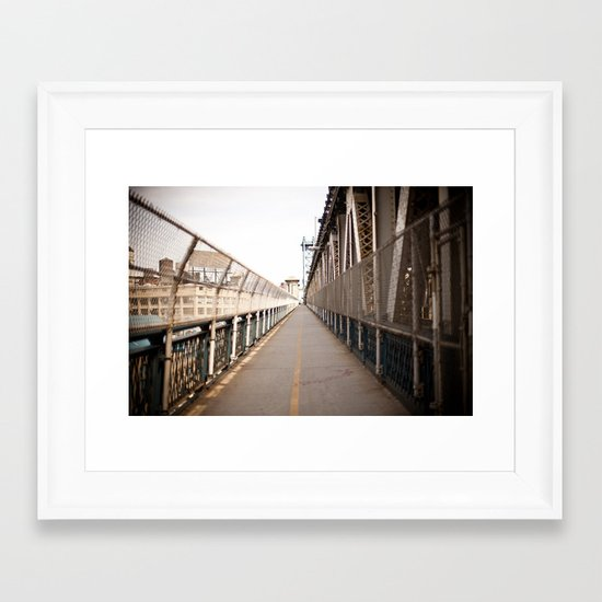 Path Framed Art Print