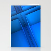 Clean Lines (Blue) Stationery Cards
