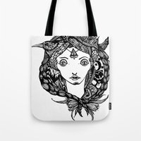 Birds And Braids Tote Bag
