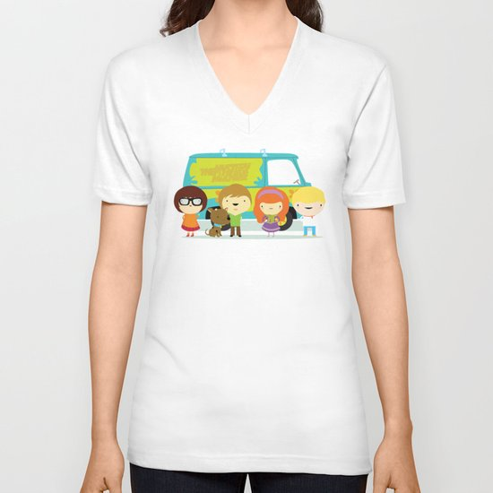 Little scooby characters V-neck T-shirt
