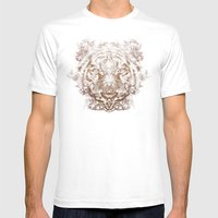 The White Tiger (Gold Ve… Mens Fitted Tee White SMALL