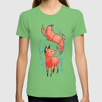 Winter Fox Womens Fitted Tee Grass SMALL