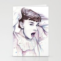 Audrey Hepburn Watercolo… Stationery Cards