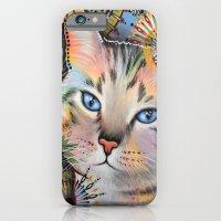 Aslan ... Abstract cat art iPhone 6 Slim Case