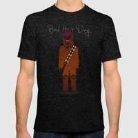 bad hair day no:3 / Chewbacca  Mens Fitted Tee Tri-Black SMALL