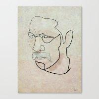 One Line Danny Trejo Canvas Print