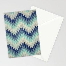 Chevron pattern_Blue Stationery Cards