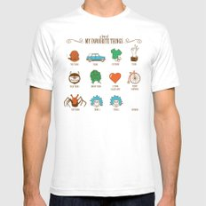 A Few Of My Favourite Things SMALL Mens Fitted Tee White