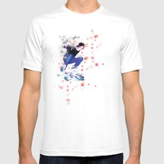Ride North White Mens Fitted Tee SMALL
