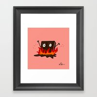 Spicy Chocolate Framed Art Print