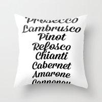 Italian Wines Throw Pillow