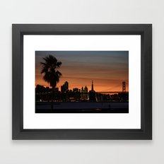 city by the bay  Framed Art Print