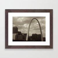 Stormy St. Louis Framed Art Print