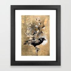 crow's soul Framed Art Print