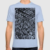 Moving Panes Black & Whi… Mens Fitted Tee Athletic Blue SMALL